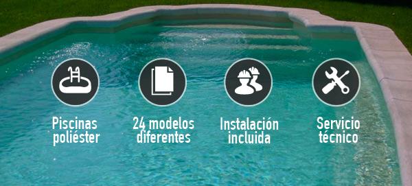 Instalación piscina barata plástico poliéster Lleida Polyarmados