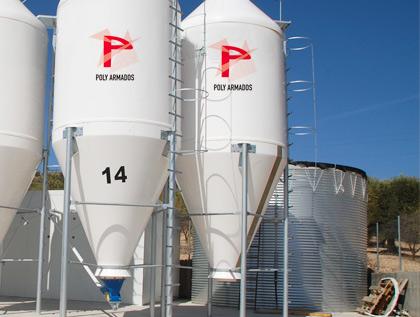silo poliéster granja abono o químico