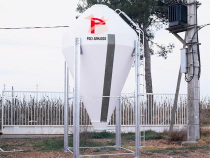 silo poliéster granja abono químico