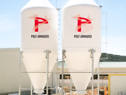 silo poliéster granja harina grano