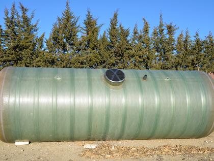 Cisterna poliéster para enterrar