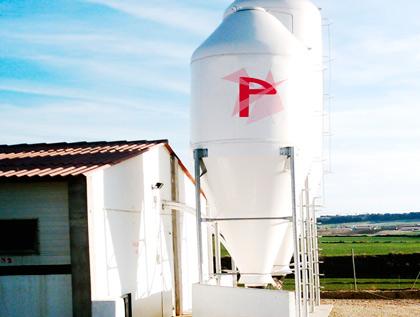 silo poliéster granja pienso o forraje