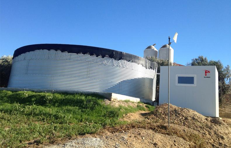 Estación tratamiento aguas granja