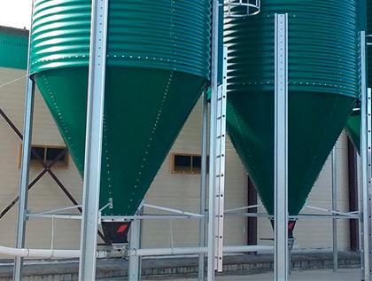 silo chapa lacado verde